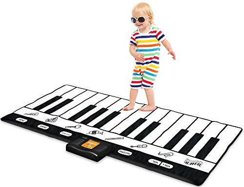 Keyboard Playmat 71'- 24 Tasten Klavier Spielmatte - Piano Mat hat Aufnahme, Wiedergabe, Demo, Play, Adjustable Vol