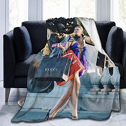Blair Waldorf - Manta para mujer, cálida, para sofá, cama, sala de estar, decoración del hogar, manta de franela para adultos y niños de 203 x 152 cm