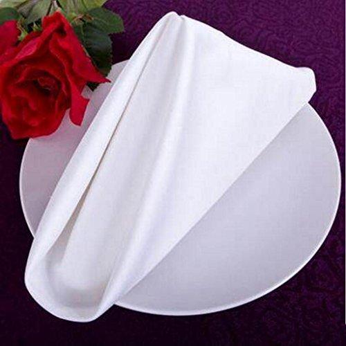 MXJ61 Serviettes en coton blanc à haute densité de Hotel Cotton Napkins ( taille : 56*56cm )