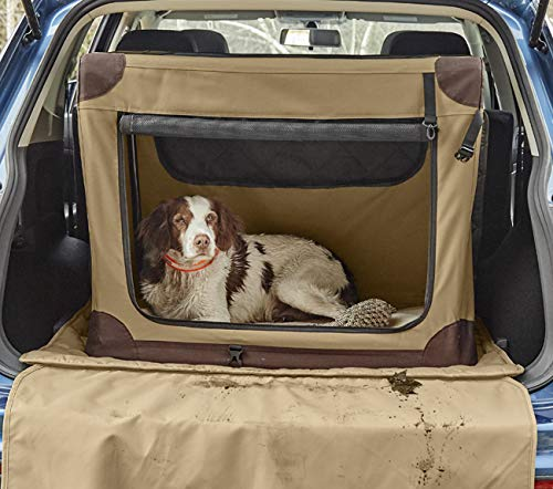 Orvis Hose-Off Folding Travel Crate/Large Dogs 70-90 Lbs, Khaki, Large