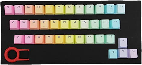 Cmany ATTAV 37 Keys PBT Keycaps Double-shot Backlit Keycaps Set for Mechanical Keyboard (Rainbow Gradient)