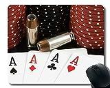 Yanteng Alfombrilla de ratón para Juegos, póquer de Altas apuestas al Mueller Alfombrilla de Goma con Borde Cosido