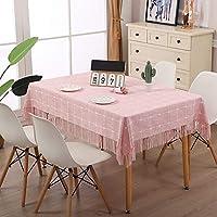 洗えるコットンタッセルデザインテーブルクロス、長方形のテーブルカバー、キッチンテーブルトップビュッフェの装飾に最適 (色 : B, Size : 140x200cm)