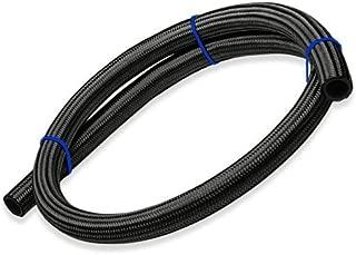 Upgr8 5 Feet Length Nylon Steel Braided Fuel/Oil/Gas Line Hose (-12AN, Black)