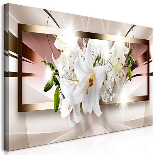 murando Cuadro Mega XXXL Flores Lirios 160x80 cm Cuadro en Lienzo en Tamano XXL Estampado Grande Gigante Imagen para Montar por uno Mismo Decoración De Pared Impresión DIY Abstracto b-A-0364-ak-e