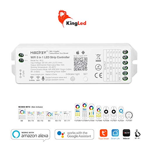Kingled Mi-Light RGB+CCT Lampe, Strahler, Empfänger für LED-Streifen und WiFi-Fernbedienung