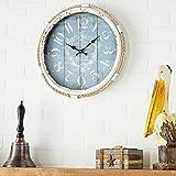 Deco 79 52558 Metal Rope Glass Wall Clock, 17'