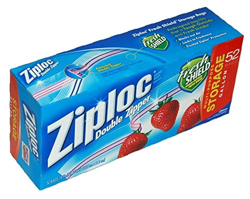 Ziploc Double Zipper Gallon Storage Bags - 52 count by Ziploc