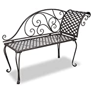 Garden Chaise Lounge Antique Rose patterne