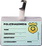 Ausweis * Polizei * mit Clip und Hülle | als Mitgebsel zum Kindergeburtstag und Mottoparty | Kinder Geburtstag Party
