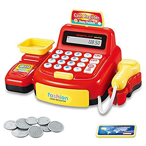 Speel Cash Register Speelgoed Voor Kids, Kassier Van De Supermarkt Toy, Pretend Play Money Machine, Kids Jongens Meisjes Gifts,B