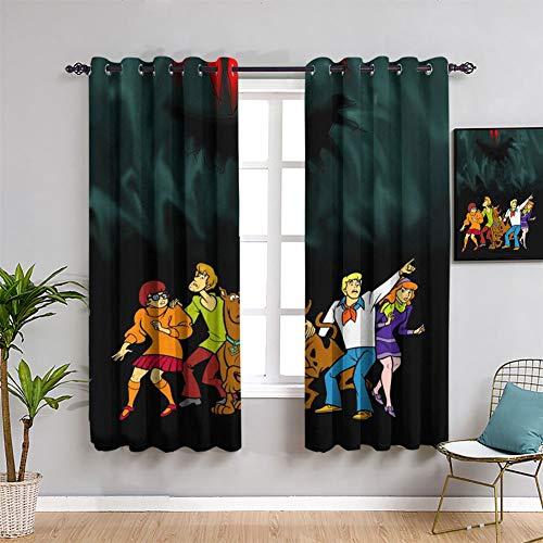 Scooby Doo - Cortinas de tratamiento para ventana, 163 x 182 cm