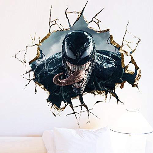 Tmvvf Antistatische Wandaufkleber Wohnzimmer Schlafzimmer Aufkleber visuelle wirkung Jugendliche Universität schlafsaal Wandkunst Wandbilder Poster Venom