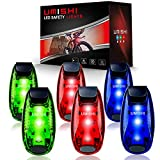 LED Safety Light (6 Pack), Clip On Strobe Running Lights for Runners, Walking, Bicycle, Dog Collar, Stroller, Best Night High Visibility Accessories for Your Reflective Gear