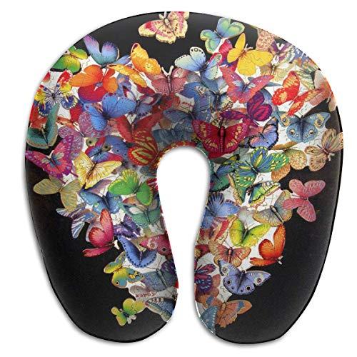 Almohadas De Memoria De Viaje,Butterfly Puzzle Pillow, Memory Foam Travel Pillow para Sport Gym Athletic