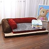IADZ Perrera extraíble y lavable cuatro estaciones sofá para perros colchón para perros teddy golden retriever suministros para mascotas