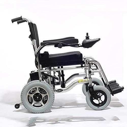 GJJY Silla De Ruedas Eléctrica Plegable EY500 Plegable Ligera, Aleación De Aluminio, Segura Y Conveniente