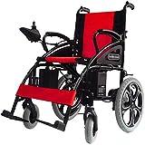 AOLI Sillas de ruedas eléctrica para adultos, superligero de la silla de ruedas eléctrica plegable cubierta manual eléctrica silla de ruedas ligera silla de ruedas para minusválidos/portable al air