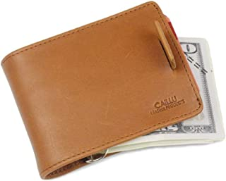 Money clip Leather Credit Card Wallet Front Pocket Slim Card Wallet Useful Credit Card Wallets Small Purse RFID Blocking The 4 Purse