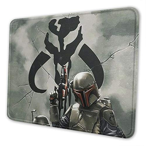 Large Manda-lorian Gun Army Gaming Mousepad Laptop Mouse Pad Waterproof Non-Slip Mouse Pads Mouse Mat Can Be Cleaned Desk Decor Suitable for Office Family Games, Travel 10x12 Inch