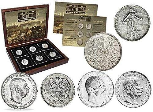 connotación de lujo discreta IMPACTO COLECCIONABLES Moneda Antiguas - 6 Monedas en plata de de de la Primera Guerra Mundial  Disfruta de un 50% de descuento.