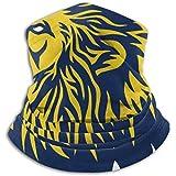 Felsiago - Braga de cuello de microfibra para orejas, color azul y amarillo