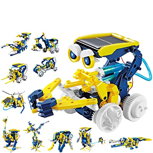 Tingingbaby Solar Robot Kit 11 in 1 Kids Mindblown STEM Educational Learning Science Building Toys for Kids Teens and Science Lovers Age 10 11 12+ Years Old Boys and Girls Construction Engineering Set
