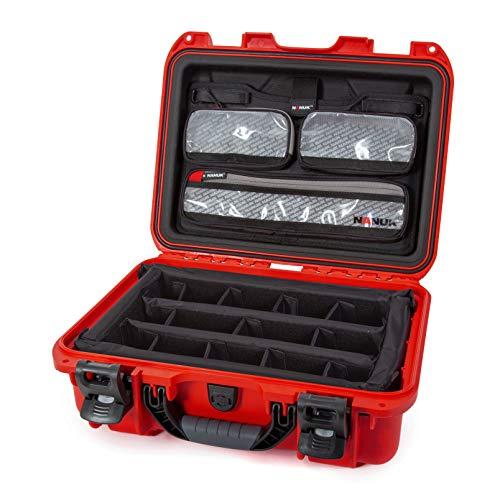 Nanuk 920 Hartschalenkoffer mit Deckel und gepolsterter Trennwand, wasserdicht, Rot