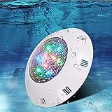 Ksovv Spotlight LED Estanque de estanque bajo el acuario ABS AQUARIUS Luces de la piscina de la pared IP68 Impermeable Jardín Césped Fuente Fountain Fountallight Indoor y al aire libre Natación Agua C