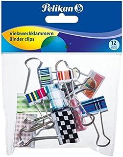 ounona Mini Organizzatore fermafogli a molla di carta Binder clip in metallo 2.5/cm 24pcs Mixed Color