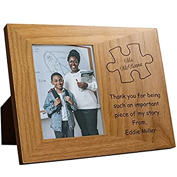 Plaquemaker Personalized Thank You for Being A Piece of My Story Picture Frame -A Great Gift for Teachers Leaders & Mentors
