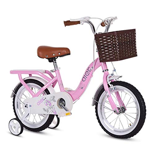 Best Deals! Children's Bicycle Princess Student Bicycle Child Bicycle 14/16/18 Children Bicycle Child Pedal Bicycle (Color : Pink, Size : A)
