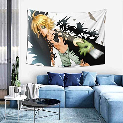 Hdadwy Meliodas Dragon Wrath Tapiz para Colgar en la Pared, tapices de Anime, Arte de Pared, Tapiz de Pared, decoración del hogar para Dormitorio, Sala de Estar, Dormitorio (40 x 60 Pulgadas)