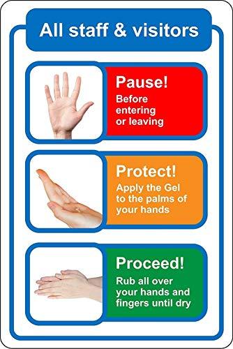 Aimoli Etiqueta De Seguridad De Señalización Protectora Etiqueta De Señalización A Prueba De Agua Signos De Protección Personal Señales De Seguridad Preventivas Autoadhesivas Papel 10Pcs