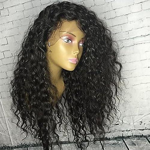 Style bouclés Lace Front Cheveux humains Perruques avec cheveux de bébé Brazillian Perruque lace front pour African Americans 100% cheveux humains Brazilain pour vente