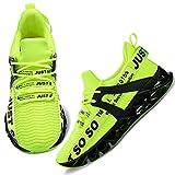Wonesion Damen Laufschuhe Sportschuhe Straßenlaufschuhe Sneaker Damen Tennisschuhe Fitness Schuhe 38 EU 1 Grün