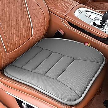 RaoRanDang Car Seat Cushion Pad for Car Driver Seat Office Chair Computer Chair with Memory Foam  Gray