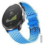 ANBEST 20mm Silicona Pulsera Compatible con Suunto 3 Fitness/Vivoactive 3/vivomove hr/Venu/Move 3/Forerunner 645/245 Correa Repuesto Correa para Galaxy Watch 42mm/Gear Sport Smart Watch, Azul