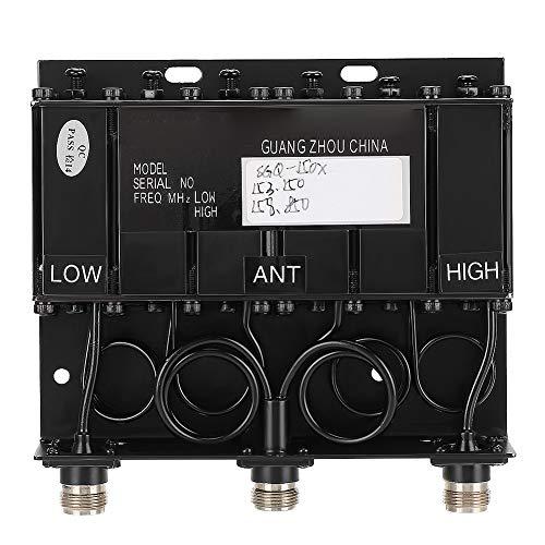 Garsent Duplexor VHF 10W Duplexor portátil de 8-10mhz para repetidor de Radio (TX: 153.150 RX: 158.850)