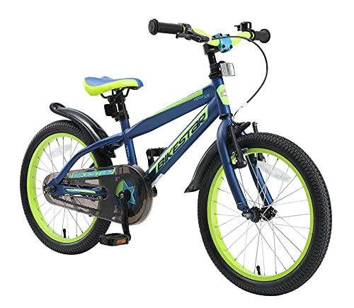 BIKESTAR Kinderfahrrad 18 Zoll für Mädchen und Jungen ab 5 Jahre | Kinderrad Urban Jungle | Fahrrad für Kinder Blau & Grün | Risikofrei Testen