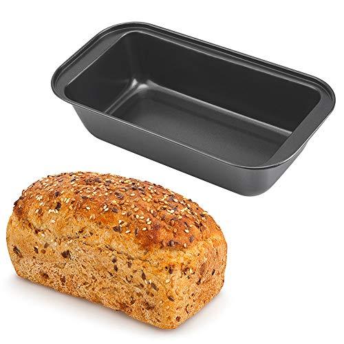 horen Antihaft-Backform aus Kohlenstoffstahl Kuchenbackform Rechteckige Backform Perfekt für Brot Kuchen Brownies Reis Und Knusprige Leckereien