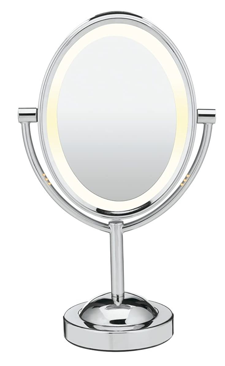 Conair Double-Sided Lighted Makeup Mirror - Lighted Vanity Mirror; 1x/7x magnification; Polished Chrome Finish