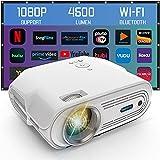 OUSMIN Proyector Wifi 1080P Full HD Proyector, Mini Proyector 4000 Lumens/200 Pantalla/Contraste 3000:1 con Espejo Inalámbrico para iPhone/Android Teléfonos/iPad/TV Stick