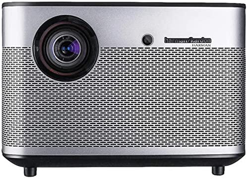 Proyector QOHG H2 DLP 1350 ANSI lúmenes Familia de proyectores de Cine en casa Entretenimiento (Color: Gris, Tamaño: 20,10 x 20,10 x 13,50 cm)