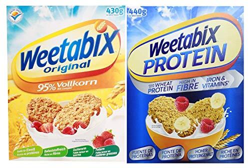 Weetabix Original Whole Grain, 430g + Weetabix Protein Crunch Original, 440g