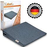 Kabari ® Orthopädisches Keilkissen - Mit fusselabweisendem Bezug - Waschbares und atmungsaktives Material
