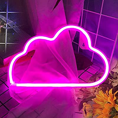 LED Neon Signs for Wall Decor,USB or Battery Decor Light,Neon Light for Bedroom,LED Neon Decorative Lights for Christmas,Party,Girls Living Room (Pink)