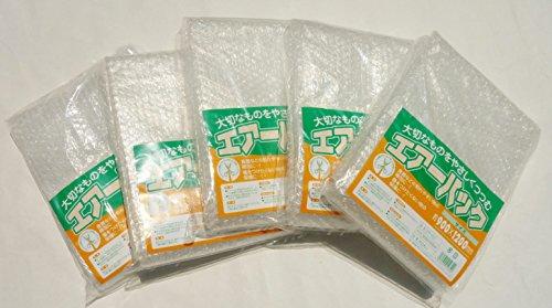 サトウ 緩衝材 プチプチ エアーパック 透明 約横90×縦120cm(1枚あたり) 荷造り 梱包用 クッション材 日本製 5枚入