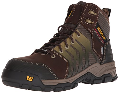 Caterpillar Men's Induction Waterproof Nano Toe Brown Industrial Boot, Worn Brown, 7.5 Medium US