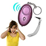 Geefawa Personal Alarm 130dB Loud Emergency Personal Alarm Keychain Self Defence Security Alarm Key Chain with LED Flashlight for Kids, Students, Women, Girls (Batteries Included)
